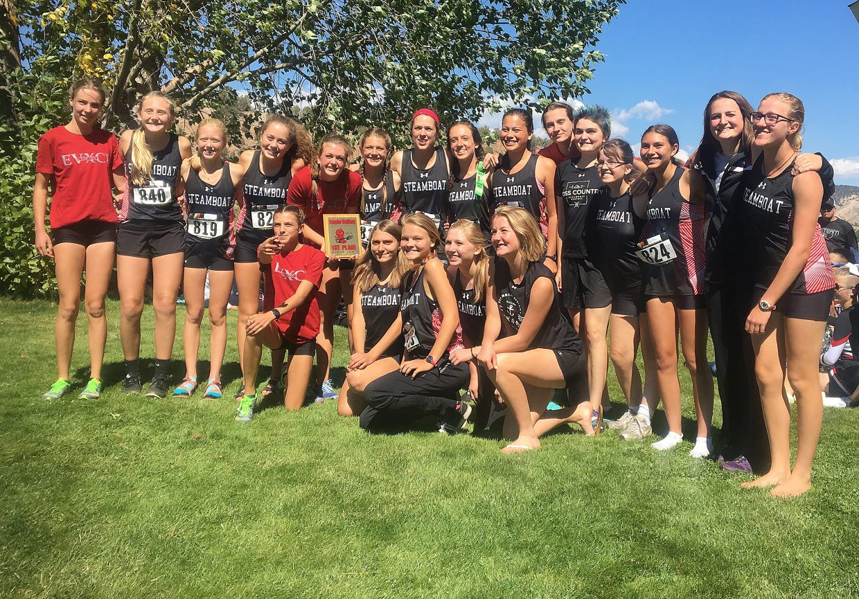 The Steamboat Springs High School girls cross country team came away with the top two places on Saturday in a meet at Eagle Valley, and it came away as the overall team champion.