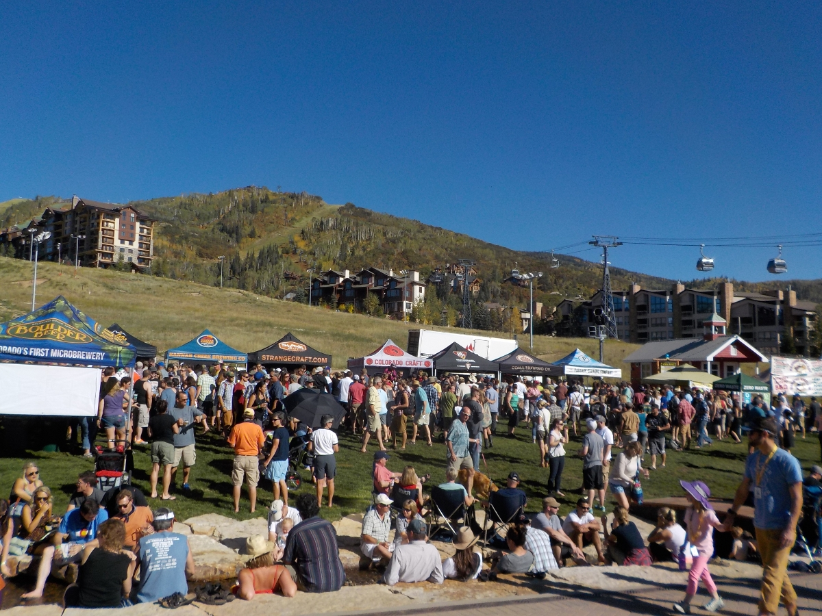 BrewFest, Burgess Creek in foreground. Submitted by: Rhys Jones