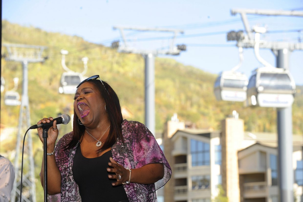 Shemekia Copeland sings the blues Saturday during OktoberWest.