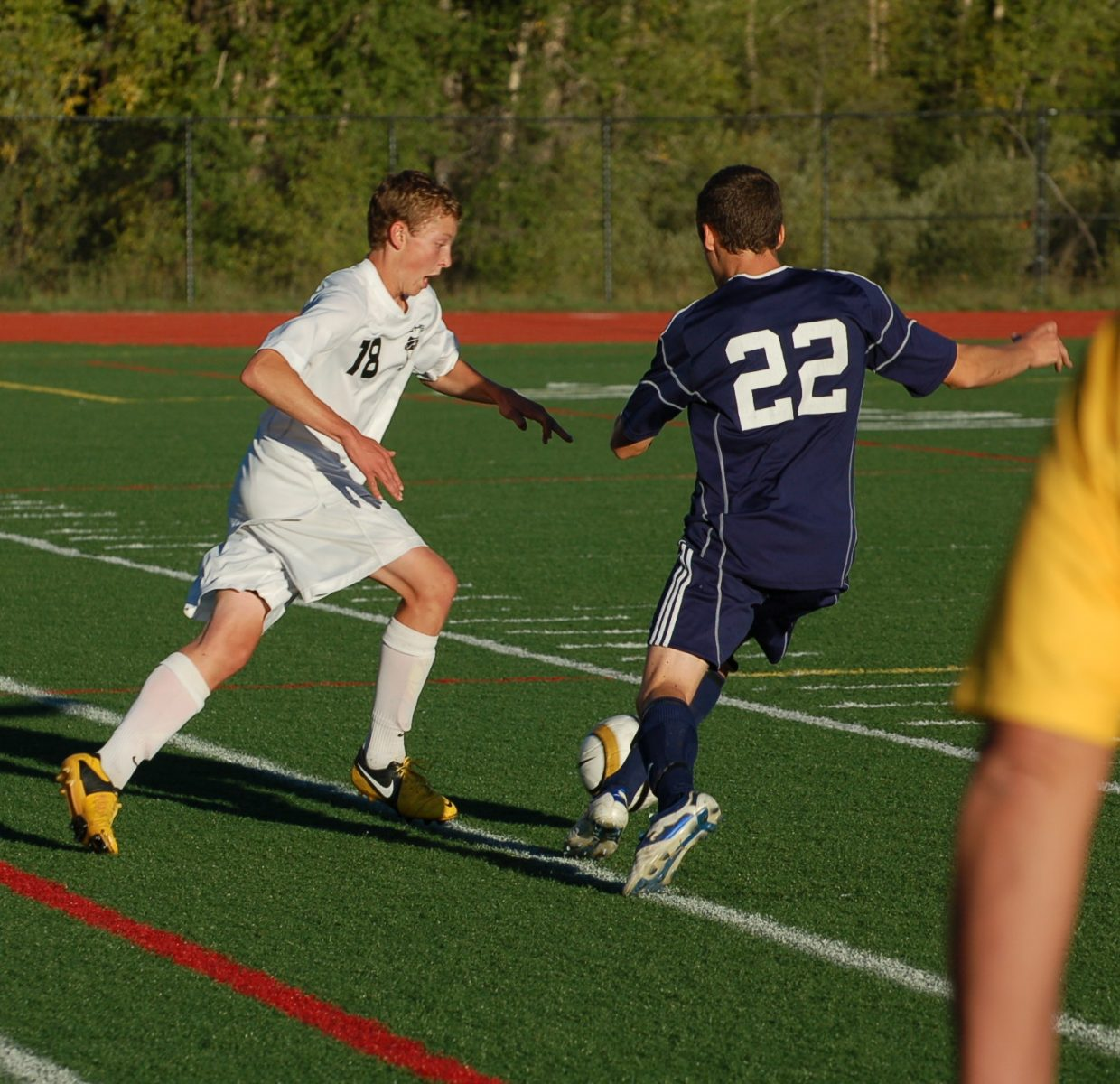 Charlie Buerskens goes for the ball for the Sailors.