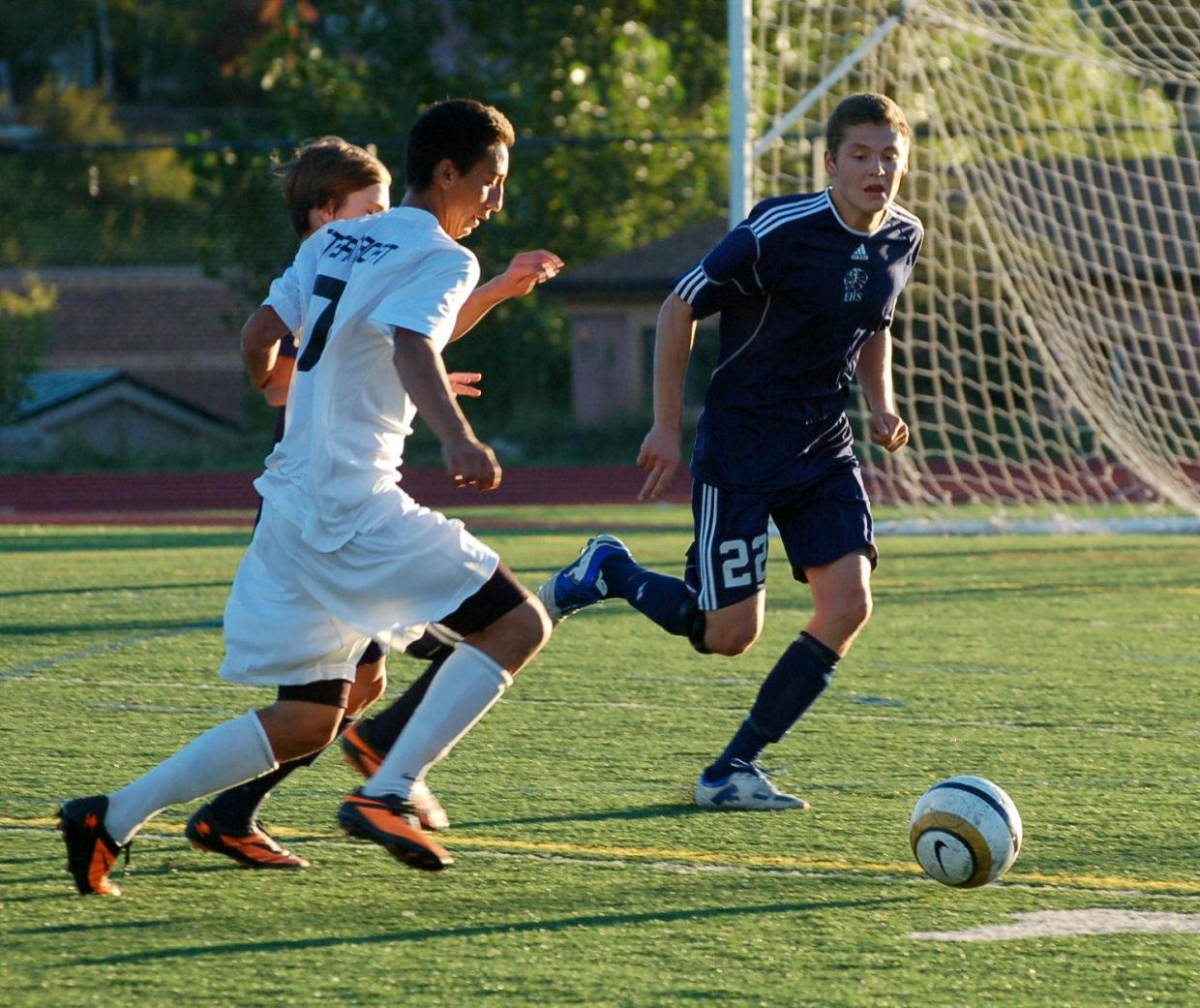 Hector Lopez fights for the ball for the Sailors.