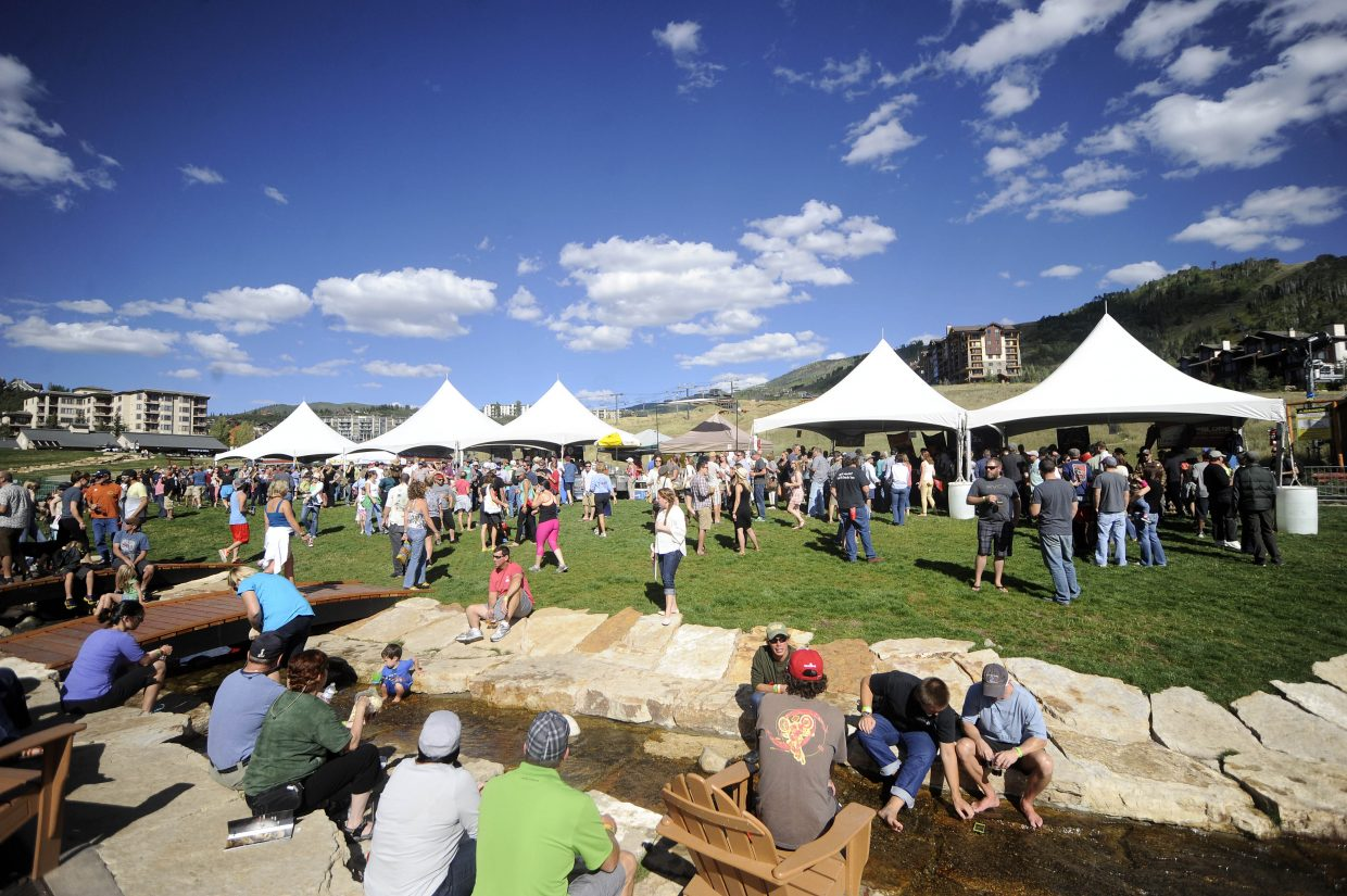 OktoberWest attracted a large crowd this year at the base of Steamboat Ski Area.