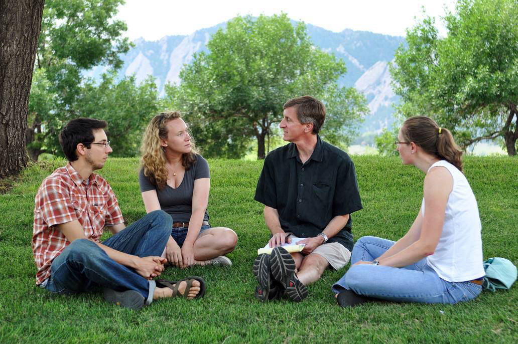 Professor Paul Komor talks with a group of students. Komor will be the speaker for the Yampa Valley Sustainability Council's Talking Green on Sept. 27.