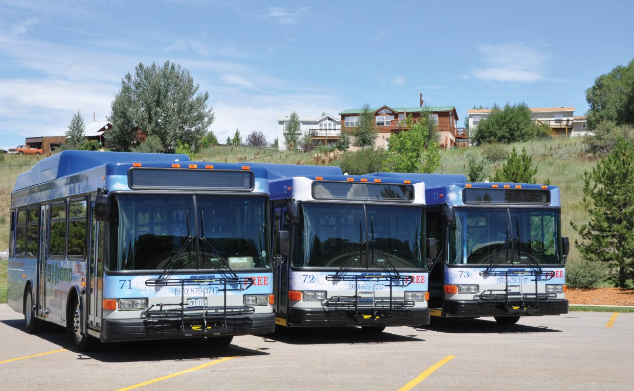 The city of Steamboat Springs is one of the transportation providers in Routt County that are participating in a yearlong program to look into the possibility of using more alternative fuels in their fleets. The city in recent years has grown its hybrid bus fleet and is realizing a significant fuel savings from the vehicles.