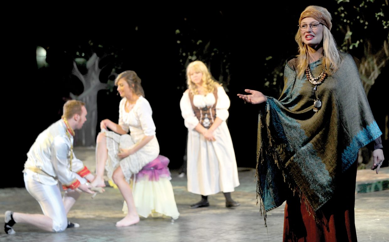 """Kayla Guettich narrates the Steamboat Springs High School Drama Troupe's production of """"Into the Woods."""""""