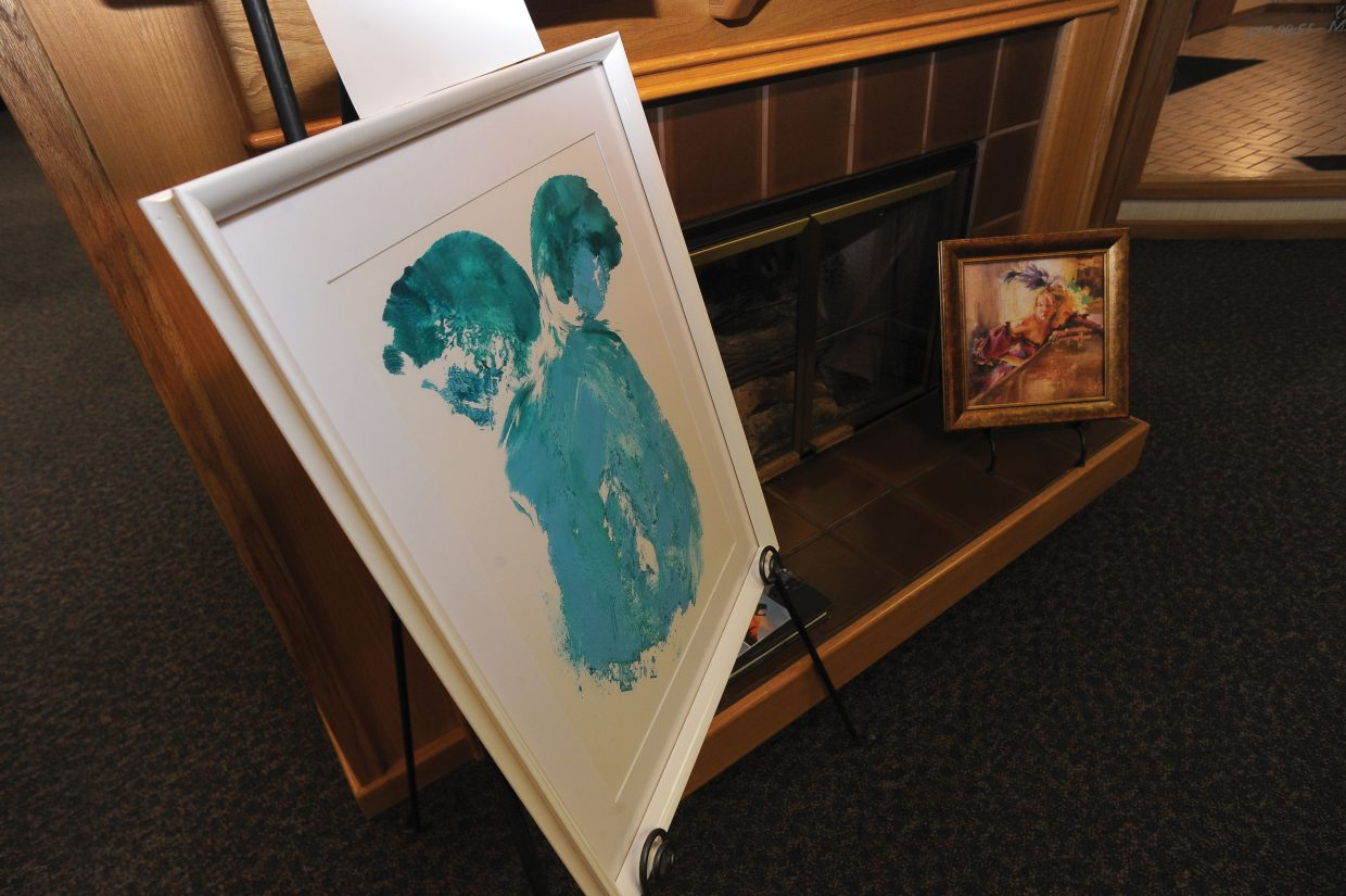 This piece by Kathi Fresques is being featured at Vectra Bank as part of the annual Bust of Steamboat.