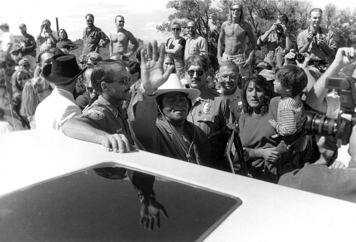 "This week marked the 20th anniversary of the dedication of the James Brown Soul Center of the Universe Bridge. James Brown himself visited Steamboat Springs for the first time to attend the dedication, during which he was present with a white Stetson cowboy hat and a Western belt buckle, according to Steamboat Pilot archives. Also during the dedication, Brown broke into an a cappella version of ""I Feel Good"" and vowed to return to Steamboat."