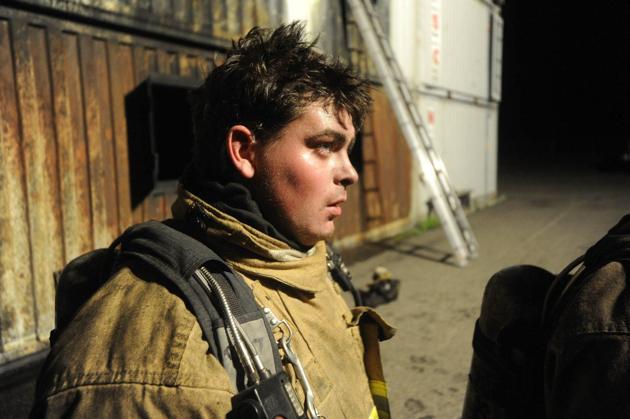 Nick DeLuca is going through six months of training to become a member of the Hayden Fire Department.