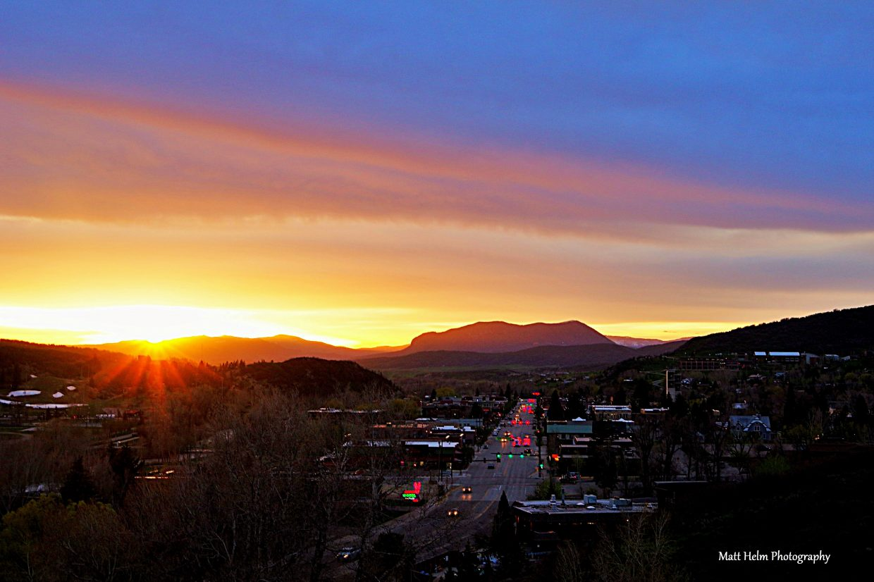 Sunset in Steamboat. Submitted by Matt Helm.