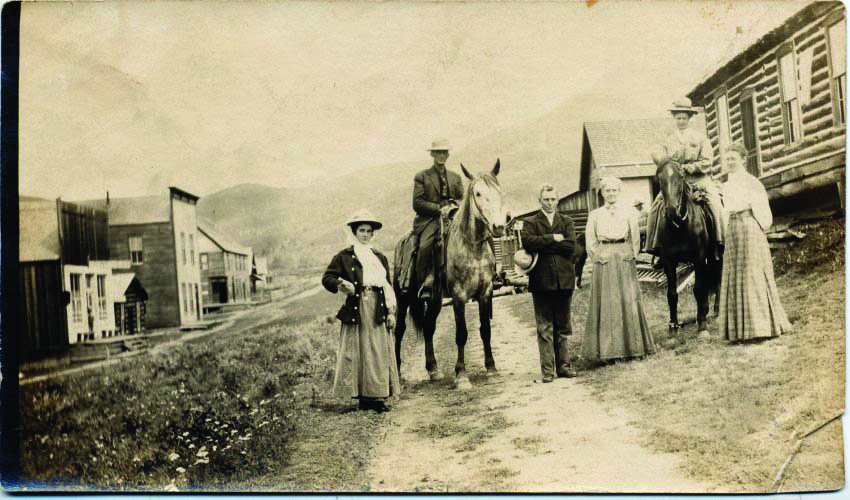 Paroda Bailey Fulton will be one of the former West Routt County residents featured during a cemetery tour Saturday in Hayden. She is pictured on a horse with her wedding party and husband, Charles L. Fulton, at Hahn's Peak.