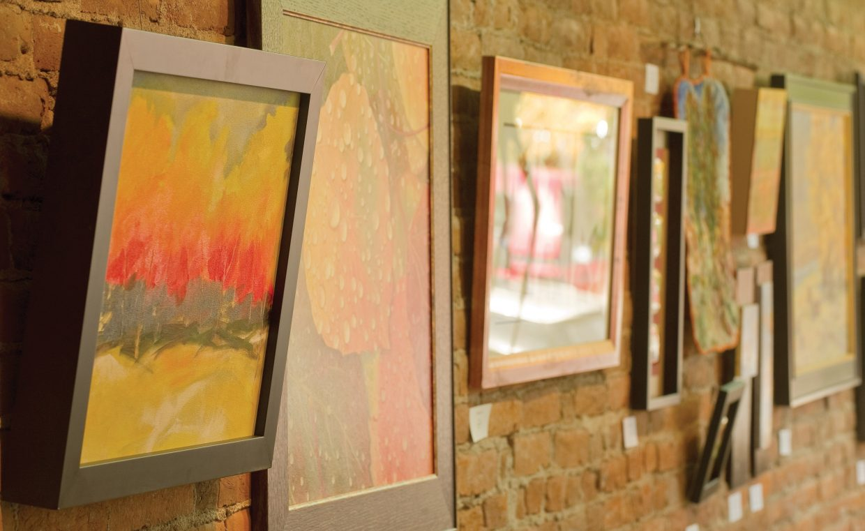 The colors of the season are reflected in the work of local artists at the Circle 7 Fine Art gallery in downtown Steamboat Springs.
