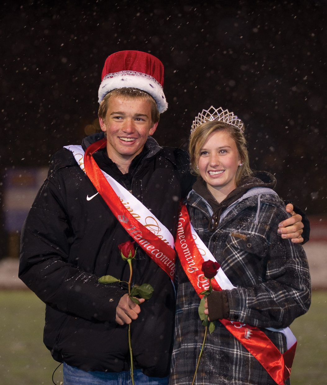 Jasper Good and Lena Barker were crowned homecoming king and queen during Friday night's game at Gardner Field.