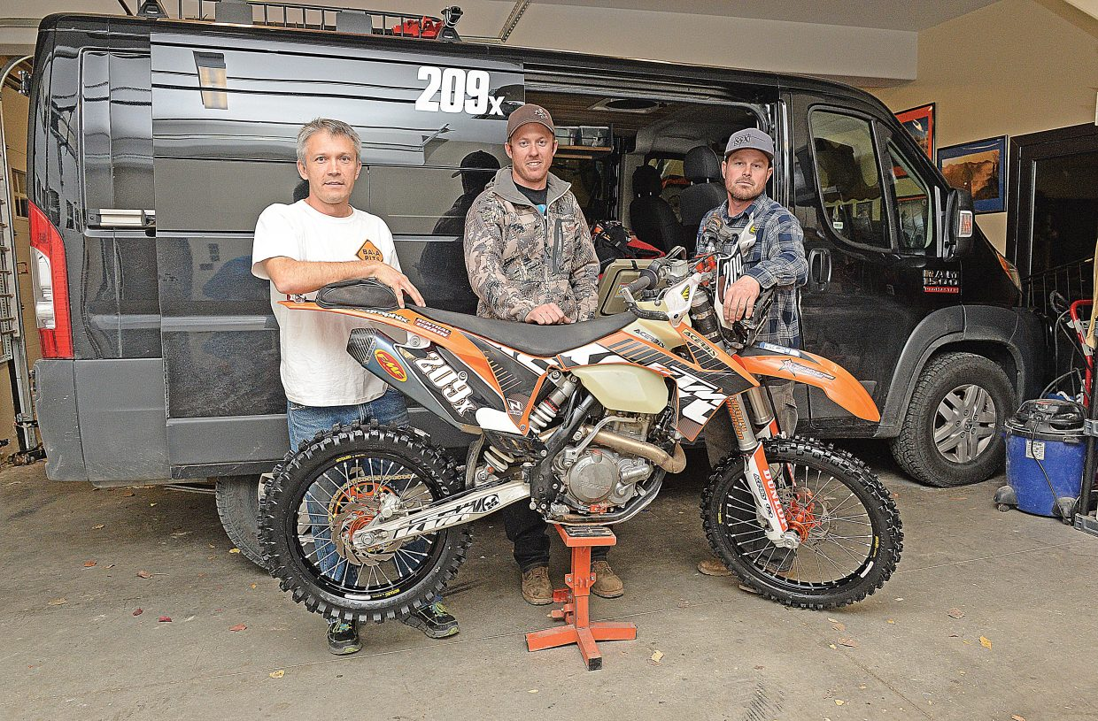 Hank Salyer, Casey O'Donnell and Josh Scott will take turns riding a high-performance dirt bike this month in the Baja 1000.
