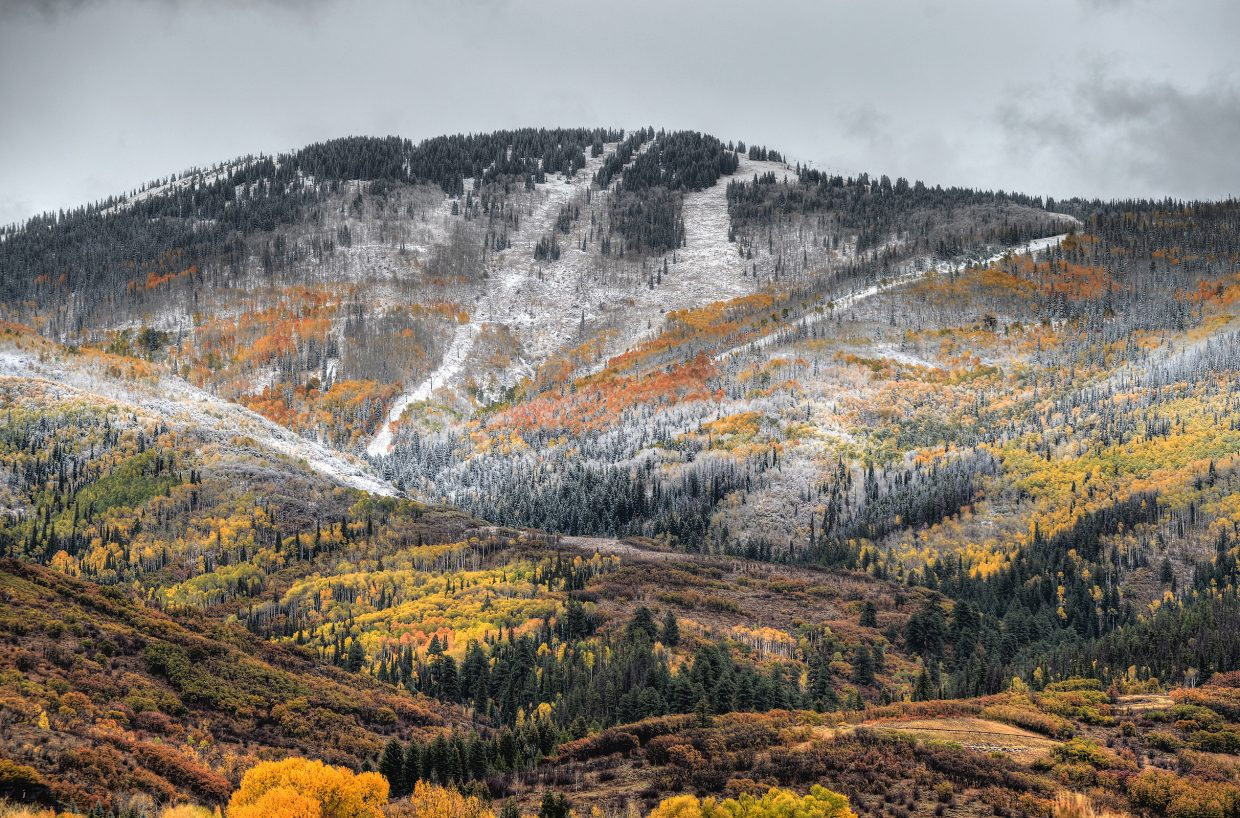 The heavy dusting of snow that fell on Oct. 3 contributed to more than 14 inches that accumulated on the valley floor throughout the month.