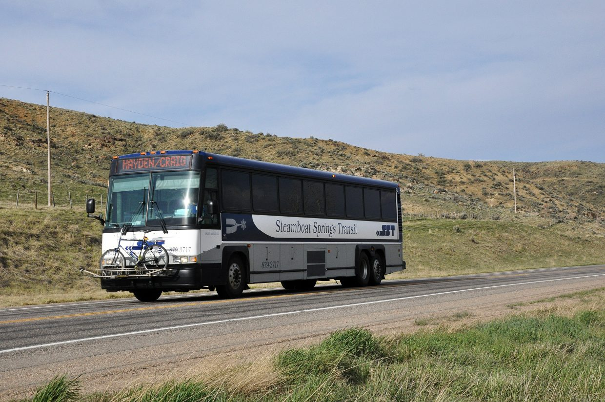 After one of the Steamboat Springs Transit buses that links Craig, Hayden and Steamboat was involved in an injury accident in May, City Council has found $120,000 in its 2017 budget to fund the installation of seat belts (requiring new seats) in two over-the-road buses.