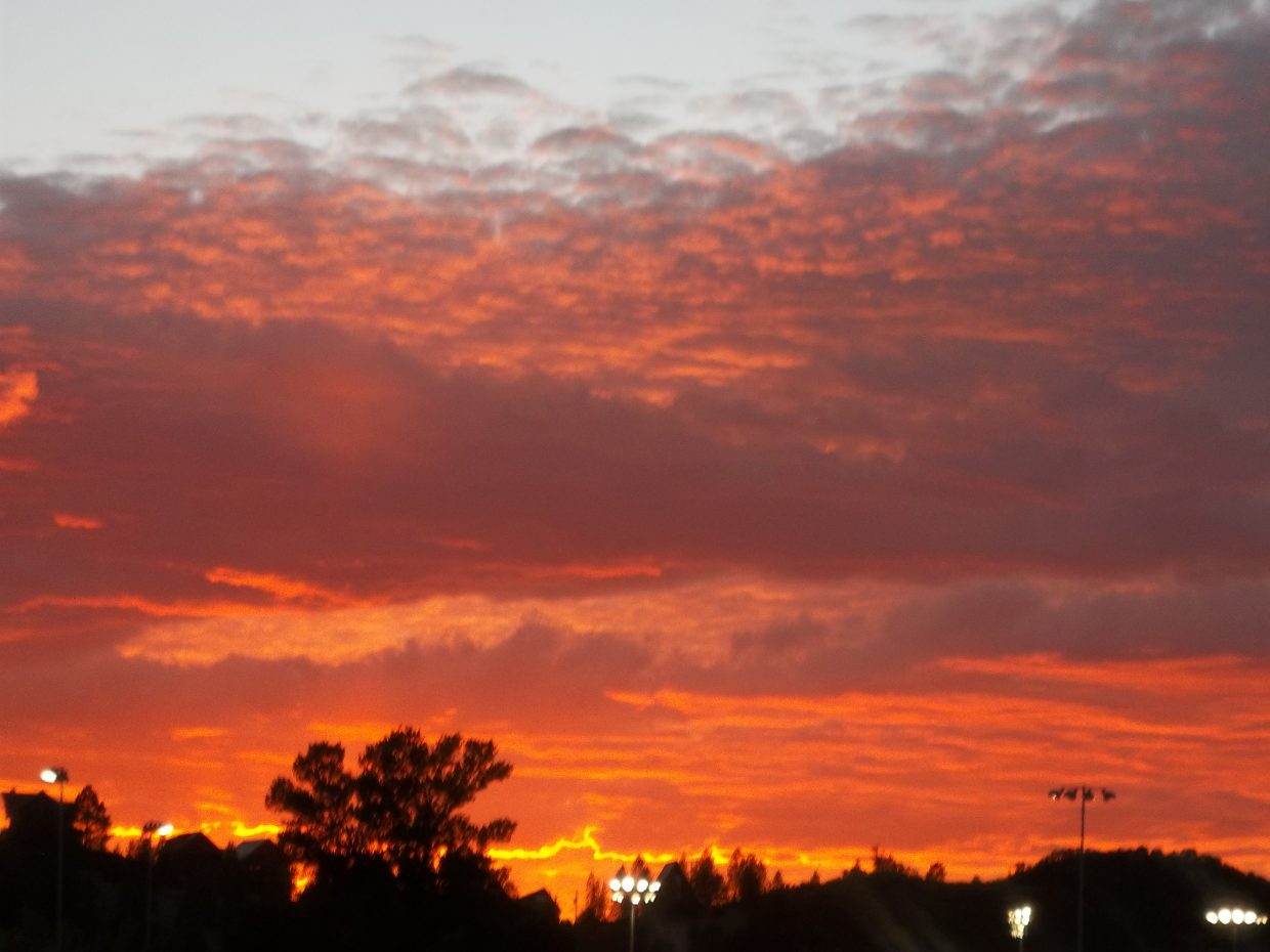 Sunset Saturday night at the rodeo. Submitted by: Bill Dorr