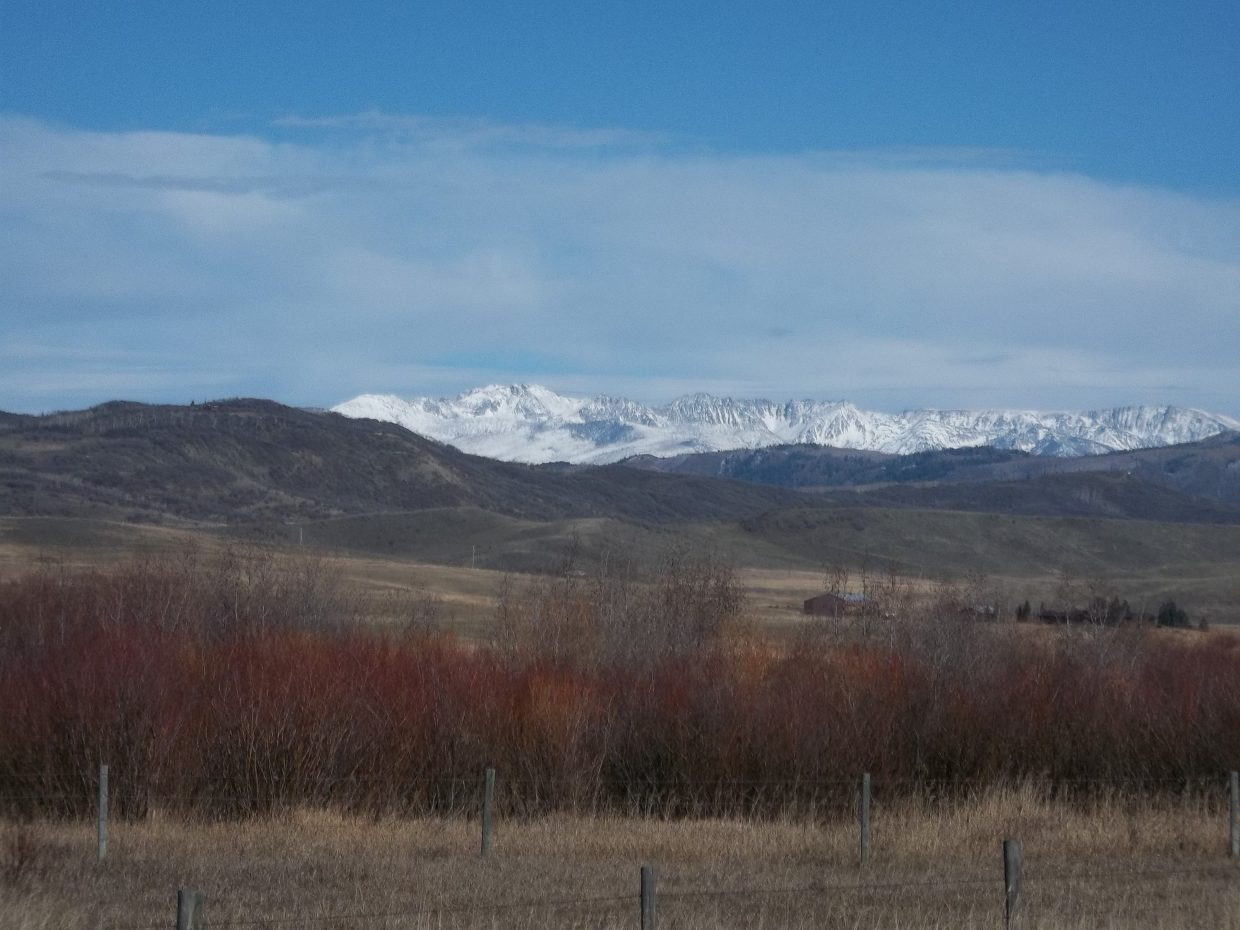 Mount Zirkel with snow. Submitted by: Bill Dorr.