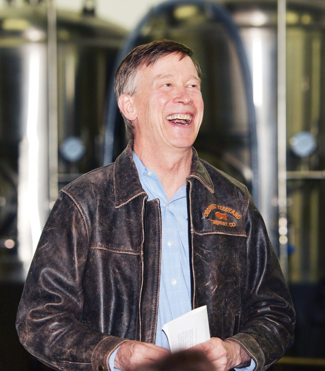 Colorado Gov. John Hickenlooper visited Storm Peak Brewing Co. during a visit to Steamboat Springs on Monday afternoon.