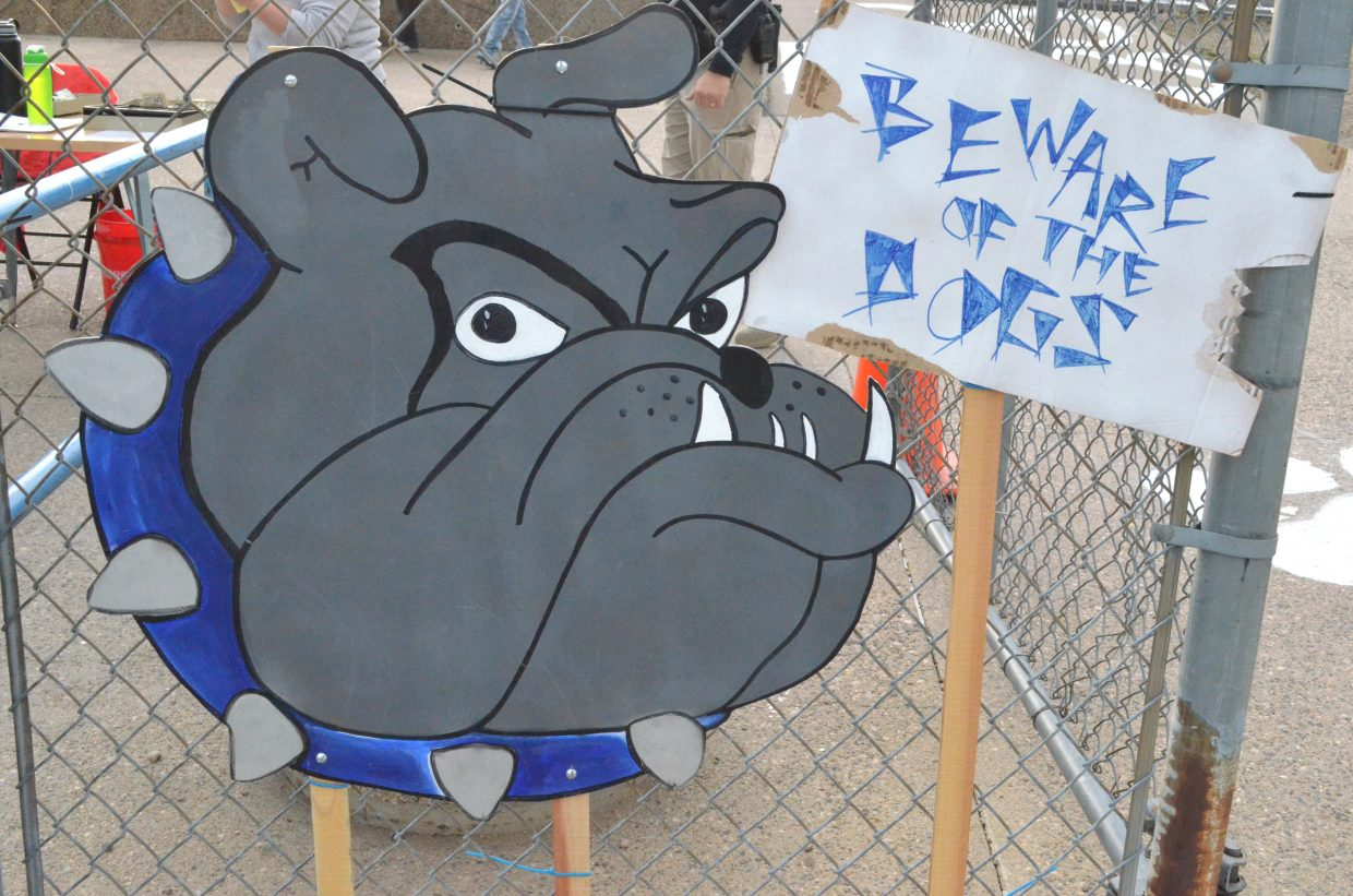 The entrance gate to Moffat County High School's Bulldog Proving Grounds.
