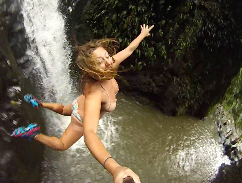 Our family took spring break last week in Hawaii. Our crazy daughter Kailey Fischer took this awesome selfie as she jumped off a water fall on Oahu. She survived. Submitted by: Gena Fischer