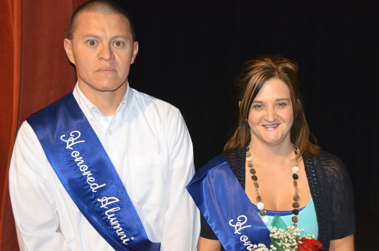 Moffat County High School Honored Alumni Class of 1993 Bryan Gonzales and Stephanie Zimmerman