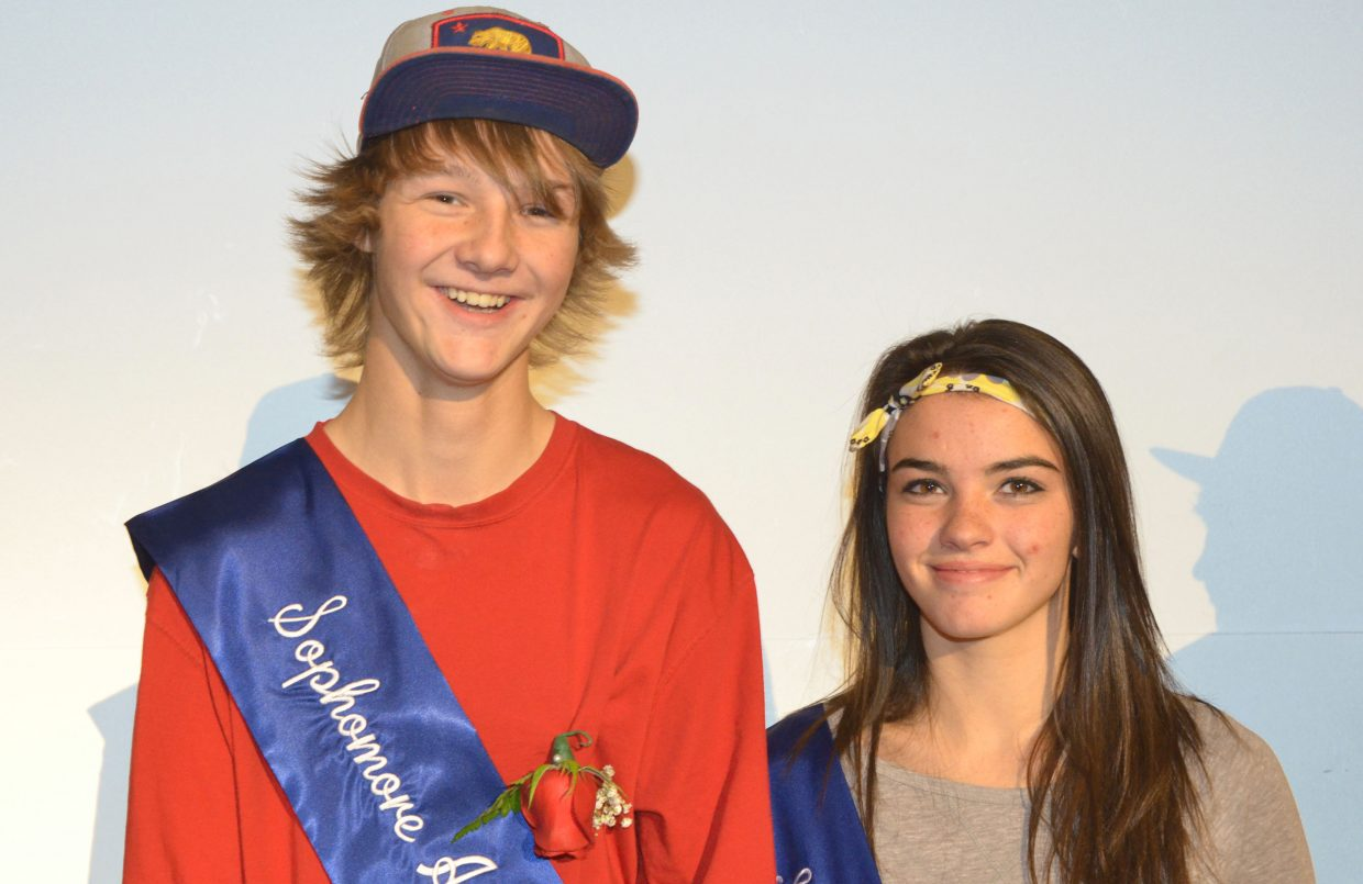 Moffat County High School Sophomore Attendants Noah Booth and Aryona Shaffer