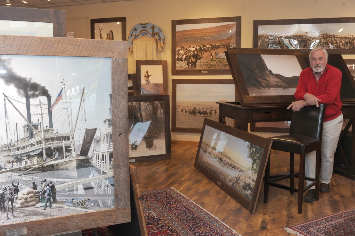 Douglas Kenyon, owner of Douglas Kenyon Collection, stands inside his Steamboat Springs gallery.