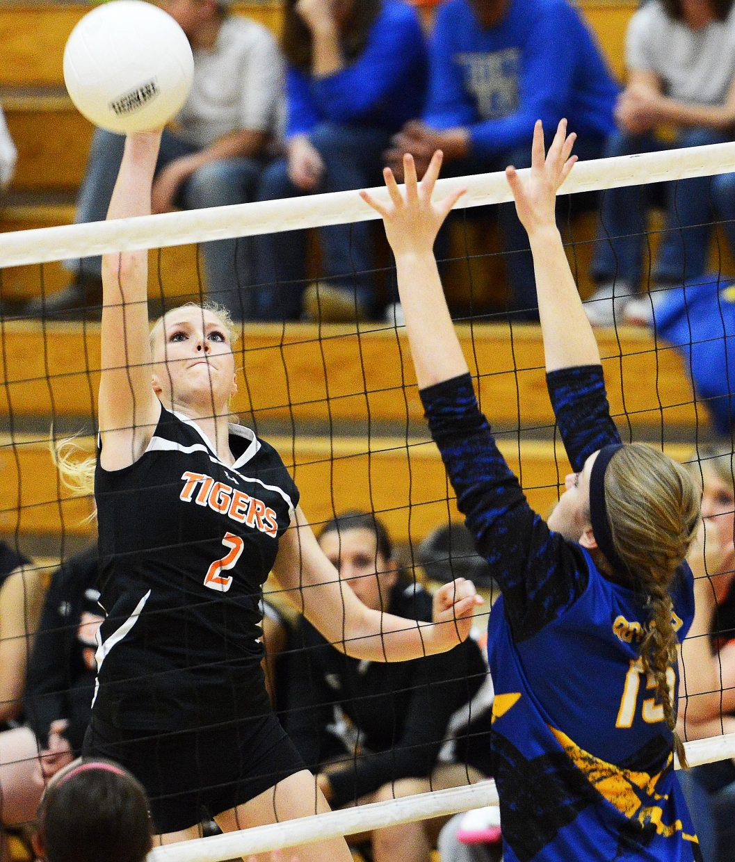 Hayden's Kenzie Fry swings for the ball Friday against North Park.