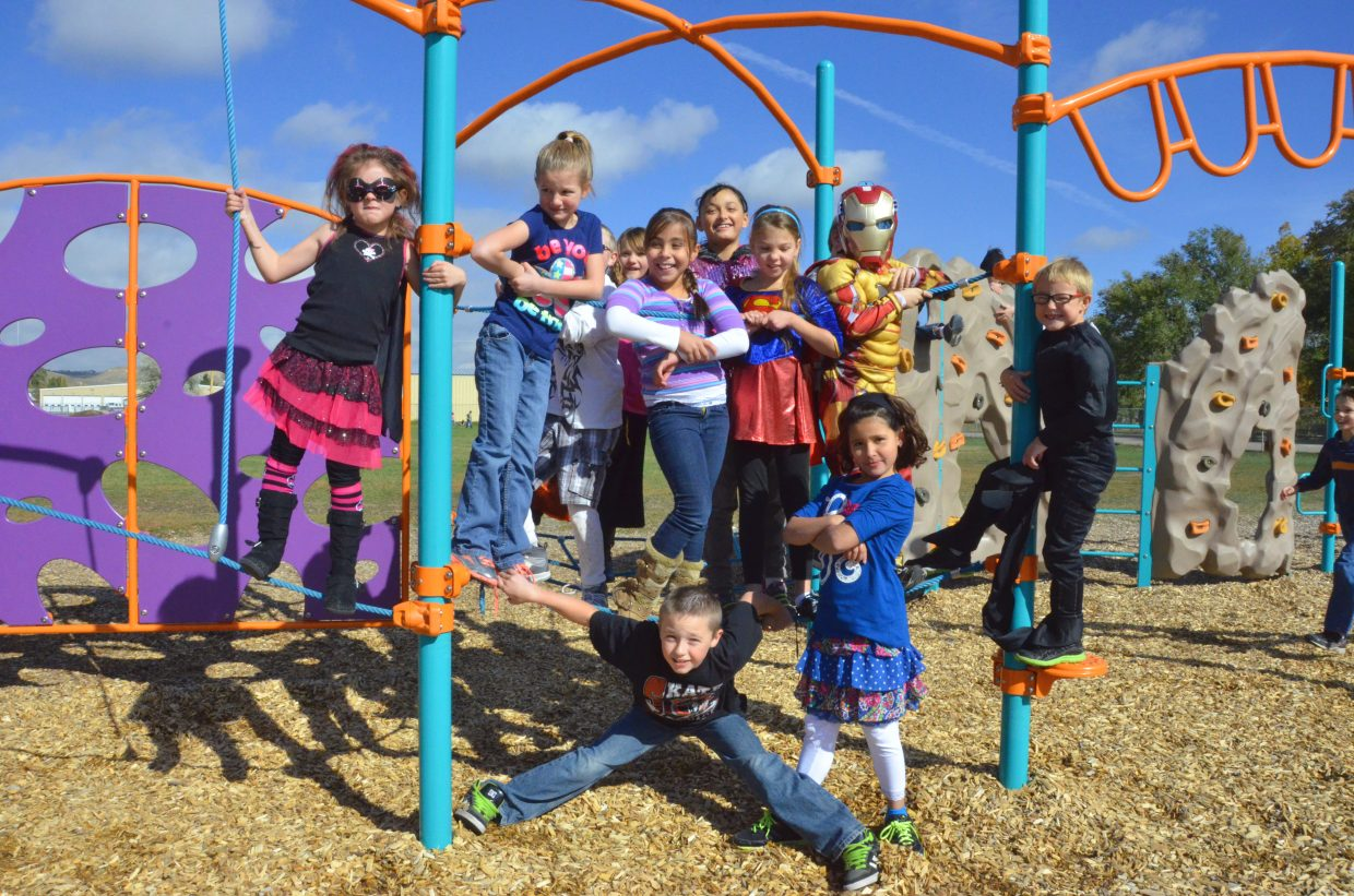 Sandrock Elementary students wear a variety of different costumes as part of Homecoming week's Superhero/Supervillain Day Wednesday.
