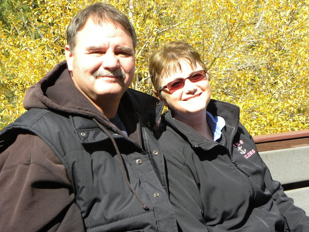 Denise Pearson, right, and her husband, Jim, are pictured. Denise, longtime Steamboat Springs High School bookkeeper, lost her battle with leukemia on Jan. 18.