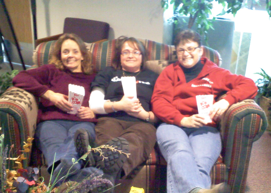 Steamboat Springs High School employees, from left, Ann Brenner, Janine Iacovetto and Denise Pearson.