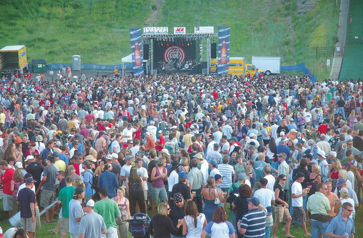Steamboat Springs residents attend the free summer concert featuring Michael Franti and Spearhead at Howelsen Hill in 2009.