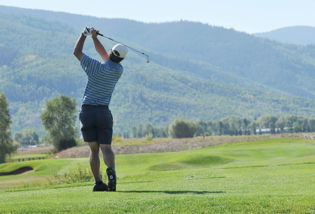 Steamboat Springs golfer Butch Boucher tees off at Haymaker Golf Course during the Colorado Golf Association Senior Stroke Play Championships in 2012. Haymaker is planning to use the city-produced marketing efforts at golf expos outside of Steamboat Springs.