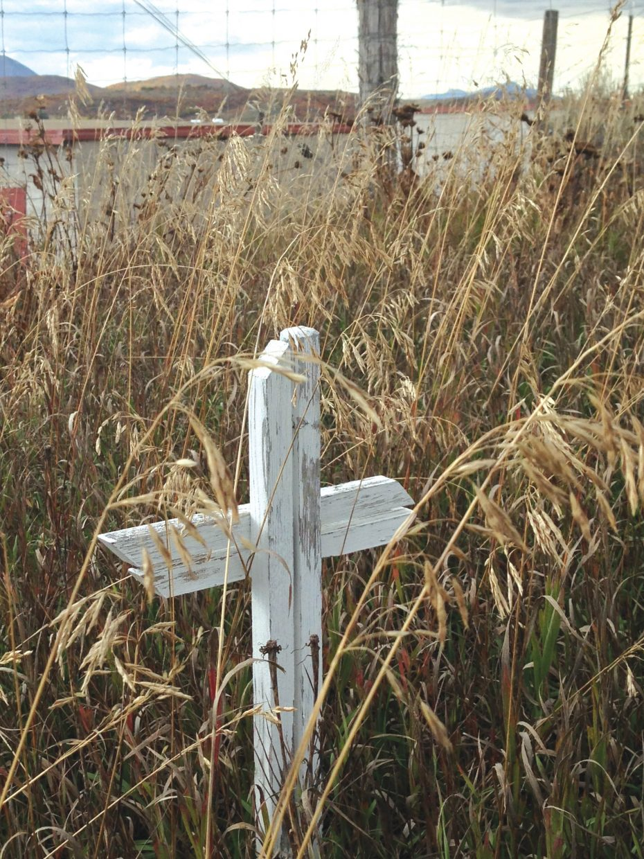 The Steamboat Springs Cemetery includes a paupers section, where 66 people are buried but less than half of the deceased are identified in cemetery records. Each grave is marked with a white-washed wooden cross, and these simple tributes dot the bottom portion of the cemetery's hillside.