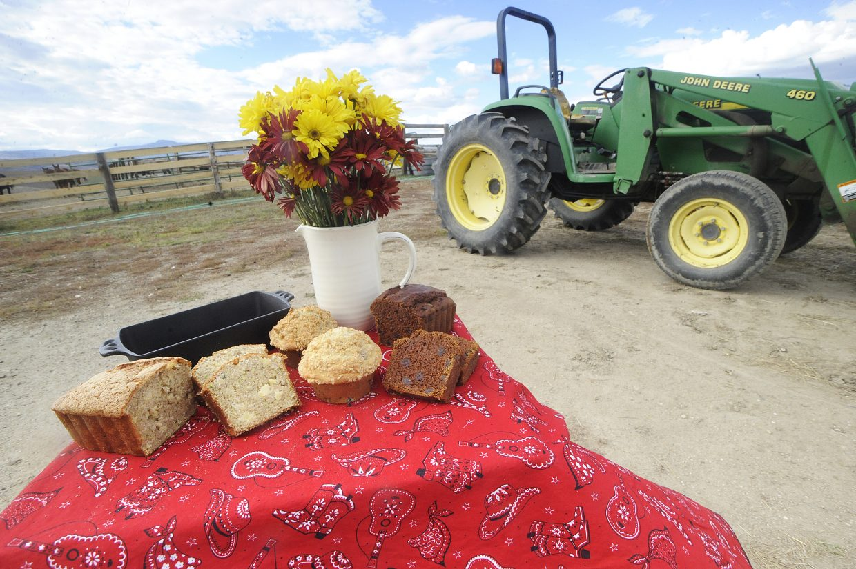 An assortment of breads and muffins from Buckin' Horse Pantry are ready to eat at Lisa Larkin's ranch north of Steamboat Springs. Larkin is one of many local food producers who are selling their products on an online marketplace.