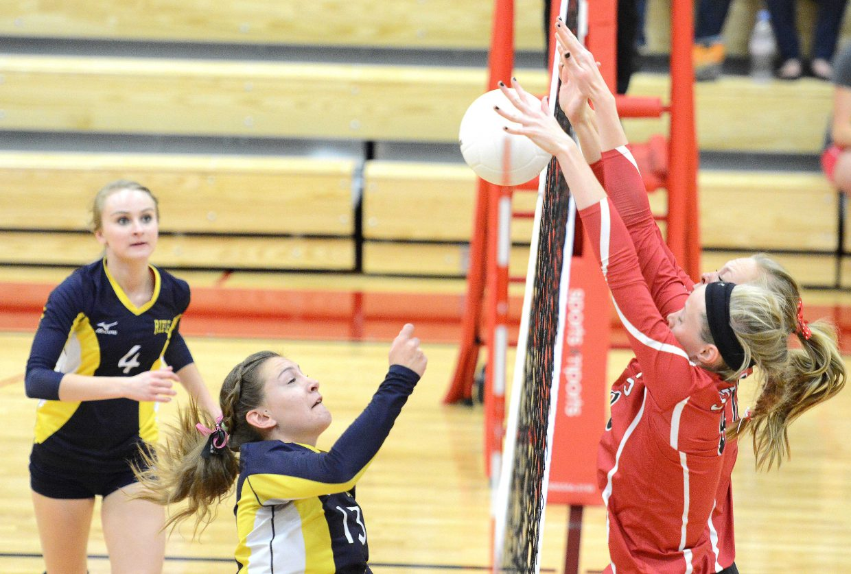 Steamboat comes up with a big block Tuesday against Rifle.