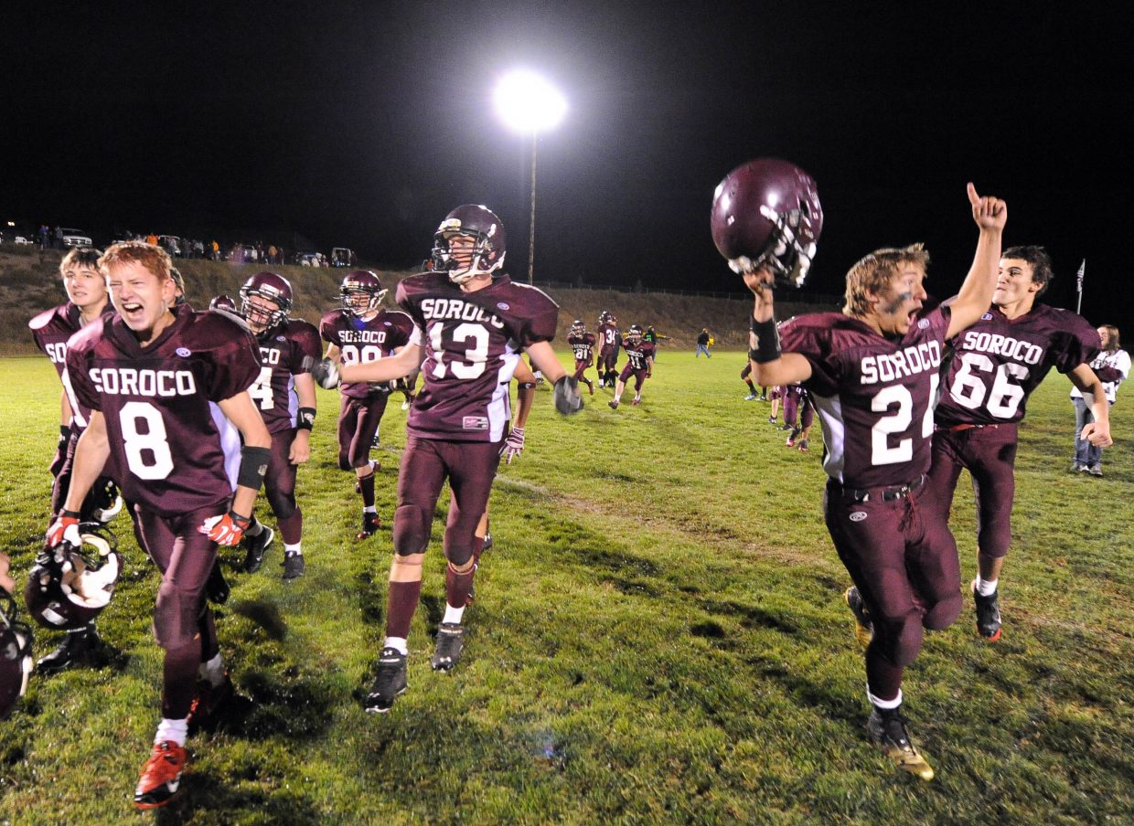 A year ago, a win against Hayden, the first in a decade, sent the Soroco players dancing onto the field. Now the Rams head back into the cross-county clash hoping to win again, secure a second-place finish and make the case that they belong in the 8-man football playoff bracket.