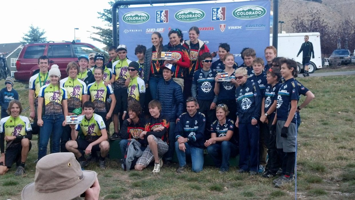 The Steamboat Springs composite high school mountain bike team finished third Sunday at the final race of the season, the state championships. The team was fourth on the season out of 25 teams.