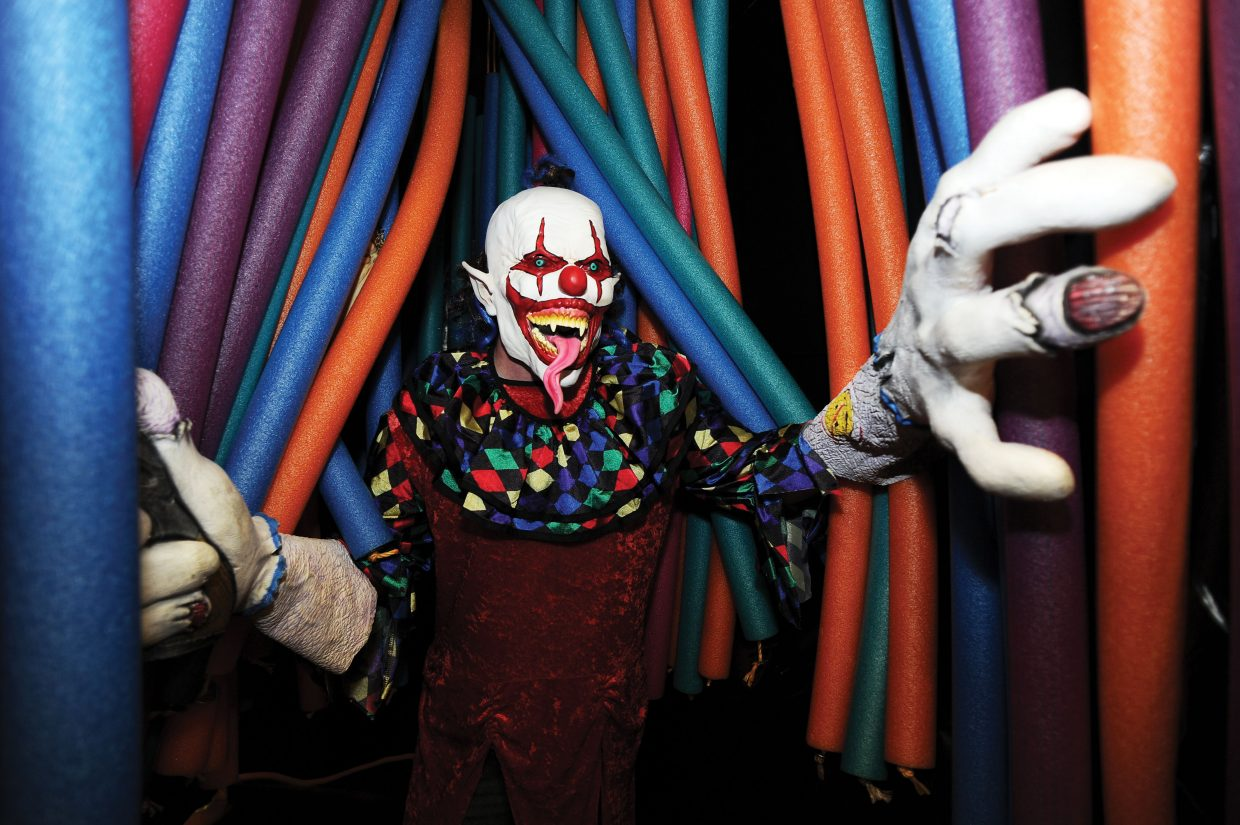 Creepy clown Brad Kennedy is ready to scare those brave enough to take on Screamboat Chamber of Horror at Colorado Mountain College this Halloween season. The haunted house will open from 6 to 10 p.m. Friday and Saturday and Oct. 30 and 31.