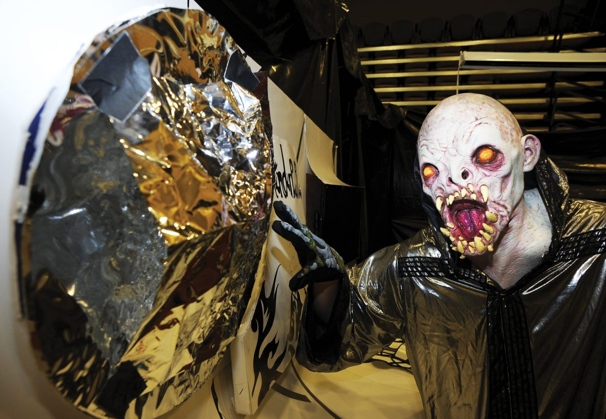 Space alien Wyatt Cave is ready to scare those brave enough to take on Screamboat Chamber of Horror at Colorado Mountain College this Halloween season. The haunted house will open from 6 to 10 p.m. Friday, Saturday and Oct. 30 and 31.