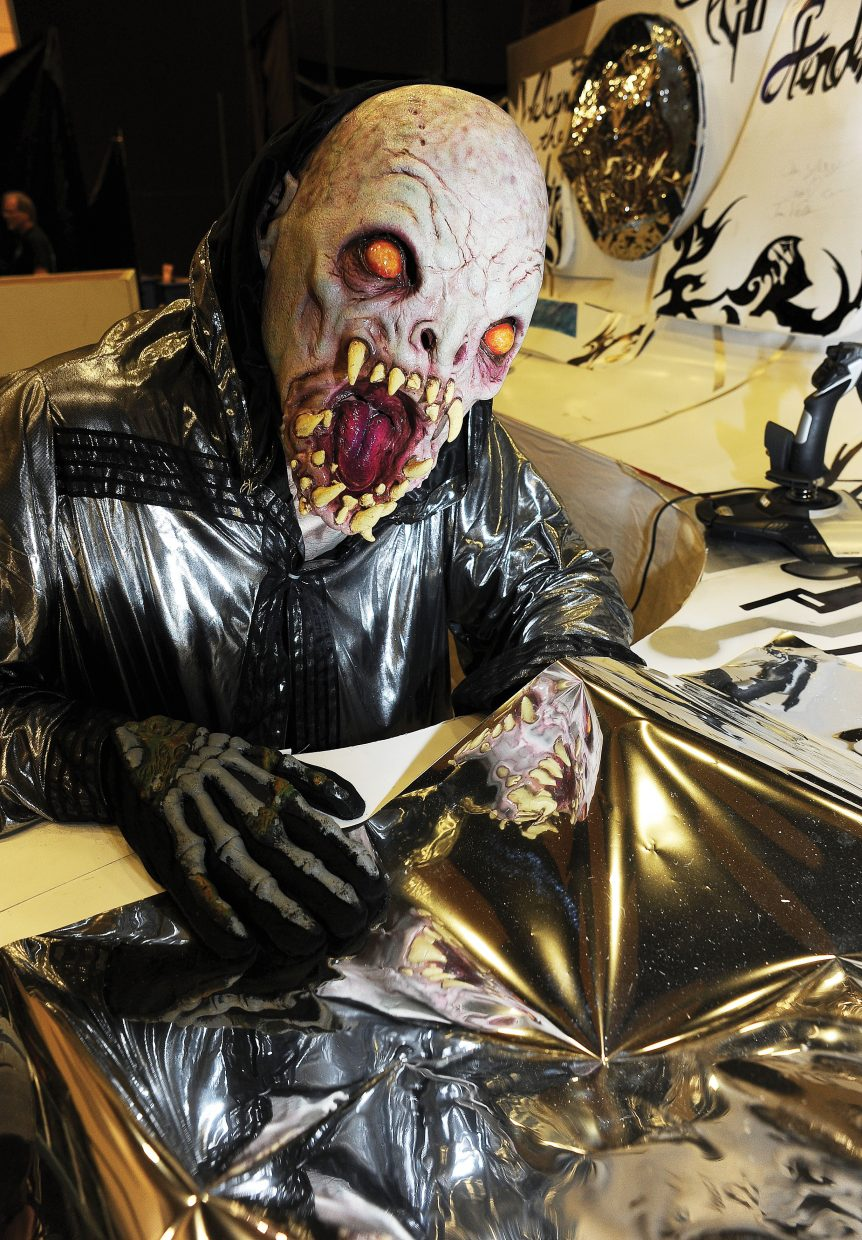 Space alien Wyatt Cave is ready to scare those brave enough to take on Screamboat Chamber of Horror at Colorado Mountain College this Halloween season.