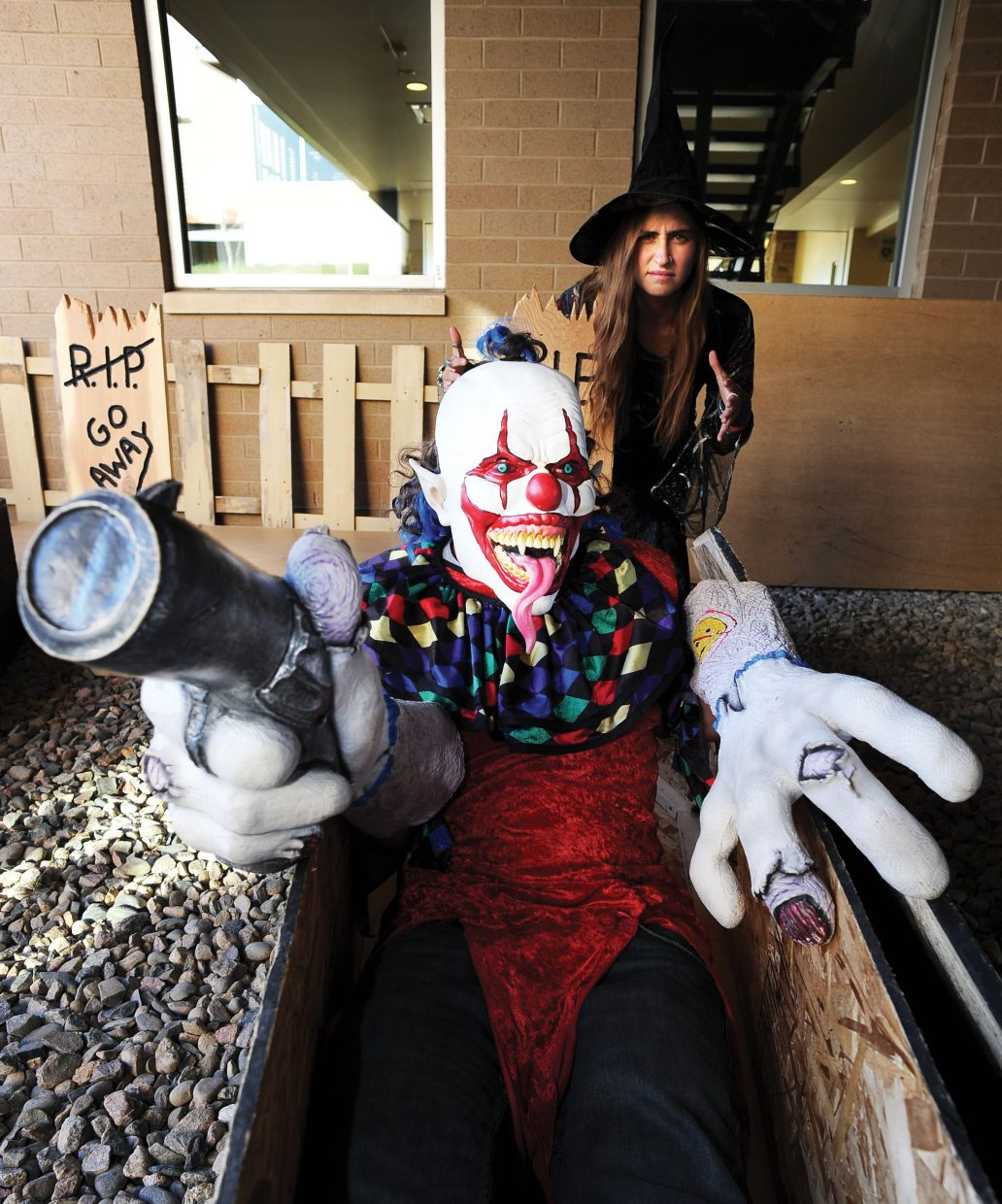 Spooky characters Caleb Gilmore and Belton Burke are ready to scare patrons who attend Screamboat Chamber of Horror at Colorado Mountain College this Halloween season. The haunted house will open from 6 to 10 p.m. Friday and Saturday and Oct. 30 and 31.