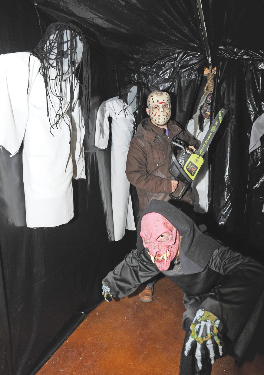 Spooky characters Caleb Gilmore and Belton Burke are ready to scare those brave enough to take on Screamboat Chamber of Horror at Colorado Mountain College this Halloween season.