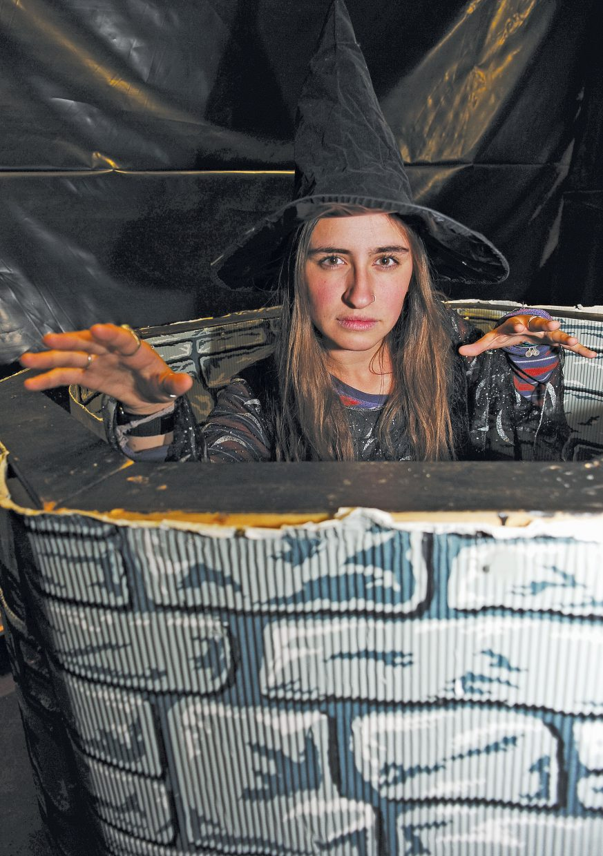 Colorado Mountain College student Gaby Conner is ready to scare those brave enough to take on Screamboat Chamber of Horror at Colorado Mountain College.