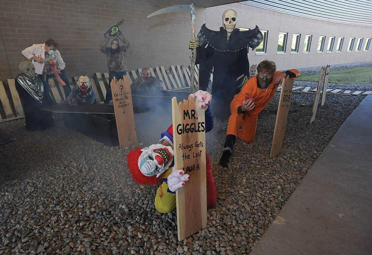 Colorado Mountain College student Ben Nowak takes on the role of Mr. Giggles for this year's Screamboat chamber of horror. The haunted house, a fundraiser for CMC's Sky Club, will open at 6 p.m. Friday inside the campus's auditorium.