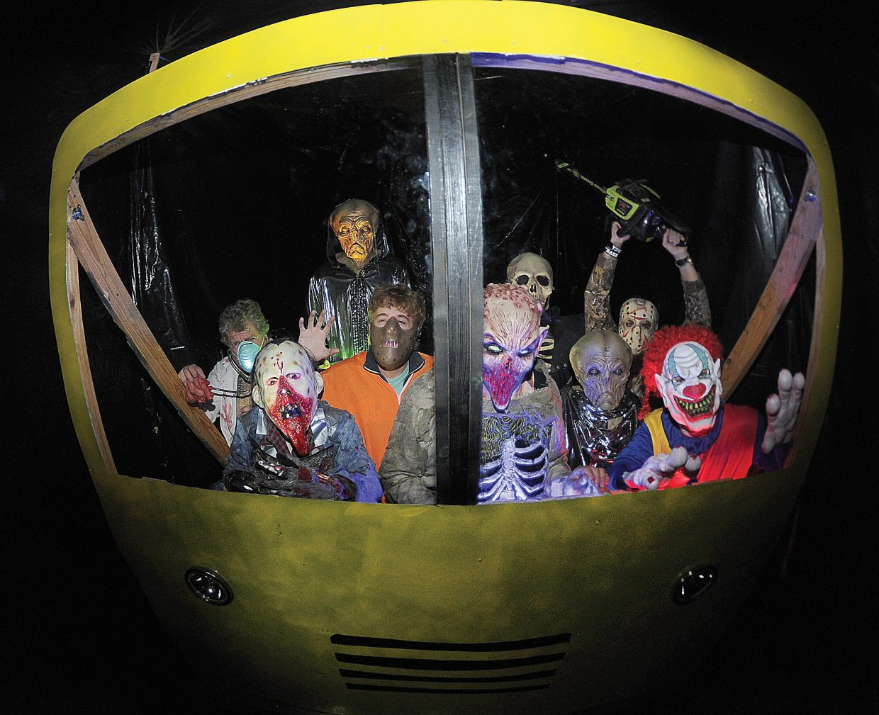 A scary cast of characters is jumping on the bandwagon, or in this case the bus, to scare its share of people during this year's Screamboat chamber of horror. The haunted house, a fundraiser for CMC's Sky Club, will open at 6 p.m. Friday inside the campus's auditorium.