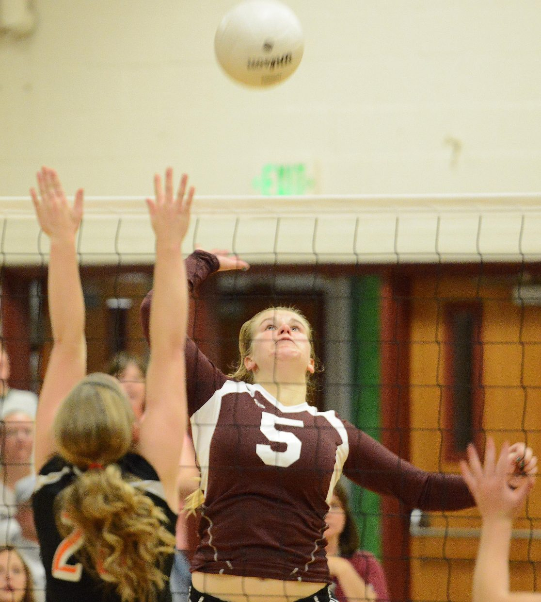 Soroco's Belle Horn knocks the ball Friday.