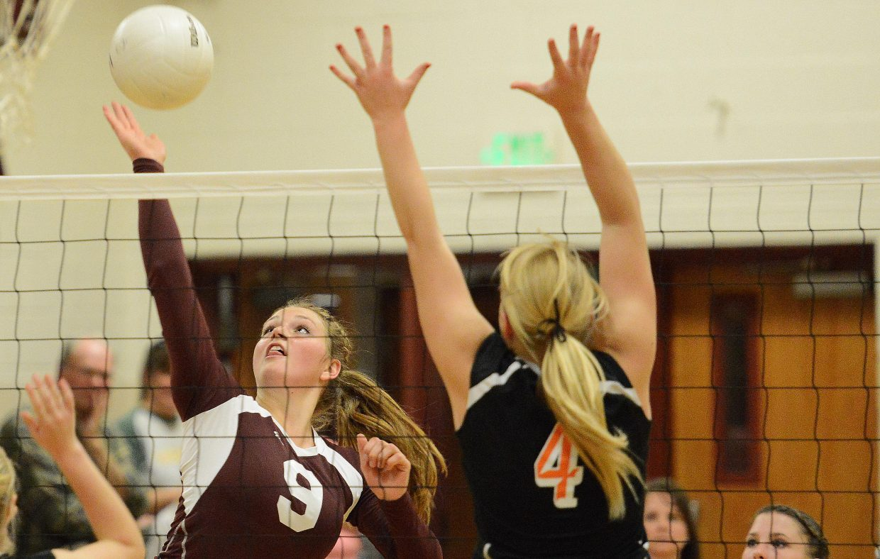 Soroco's Jessica Rossi hits the ball Friday.