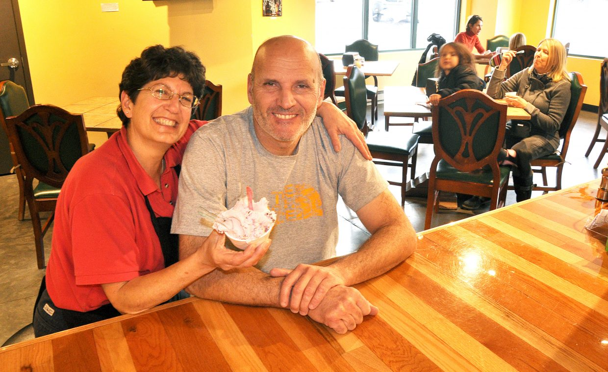 Lynne Romeo and her husband, Massimo, opened Ciao Gelato in November 2009. They say the store has been an extension of their living room.