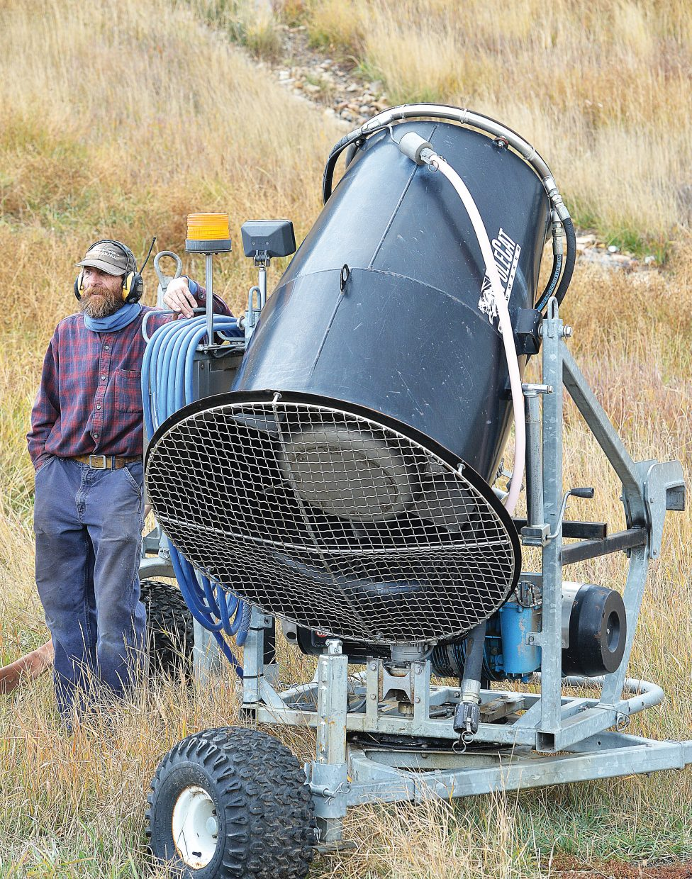 Longtime Steamboat Springs resident Bill Beauregard is ready to get the snowmaking operations at Howelsen Hill rolling. On Monday, he was helping with a safety training meeting and said that if temperatures cooperate, snowmaking may begin as early as Nov. 1 at the downtown ski area. Snowmaking began Tuesday on the slopes of Mount Werner at Steamboat Ski Area.